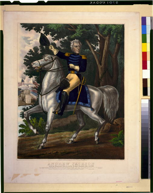 Andrew Jackson with the Tennessee forces on the Hickory Grounds (Ala) A.D. 1814