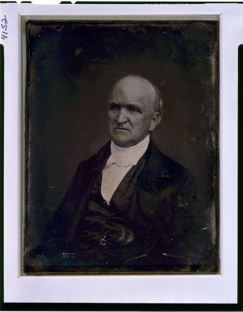 [Samuel Hanson Cox, half-length portrait, three-quarters to the left]