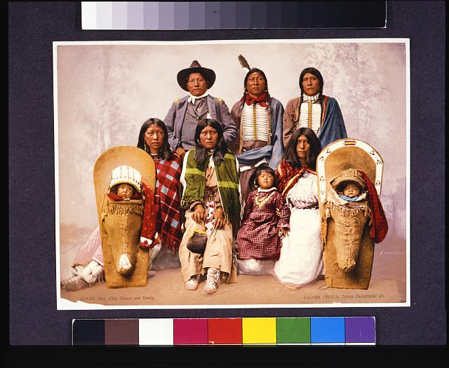 Utes--Chief Sevara [i.e. Severo] and family
