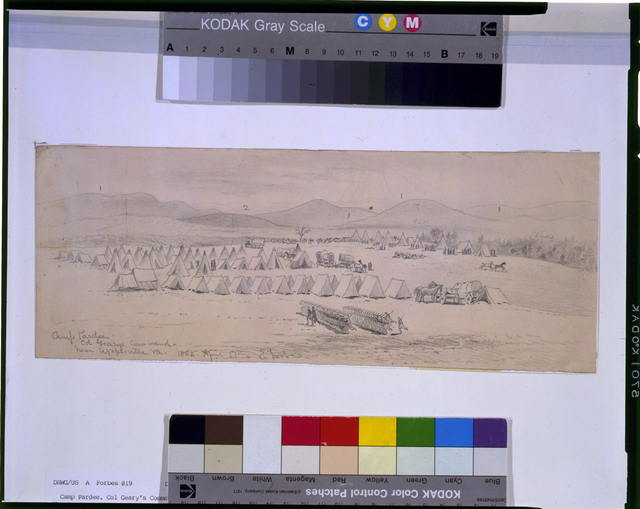 Camp Pardee--Col. Gearys command--near Upperville, Va.