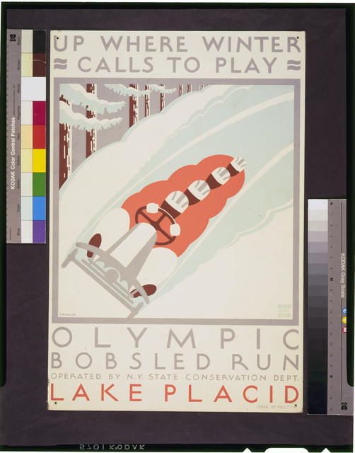 Up where winter calls to play Olympic bobsled run Lake Placid /