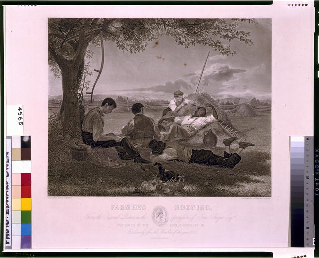 Farmers nooning, from the original picture in the possession of Jona. Sturges Esqr. /