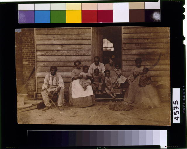 [Family of slaves at the Gaines' house]