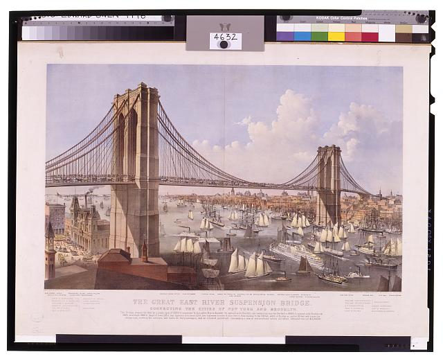 The great East River suspension bridge--Connecting the cities of New York and Brooklyn