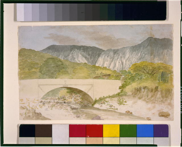 [View of river with bridge]