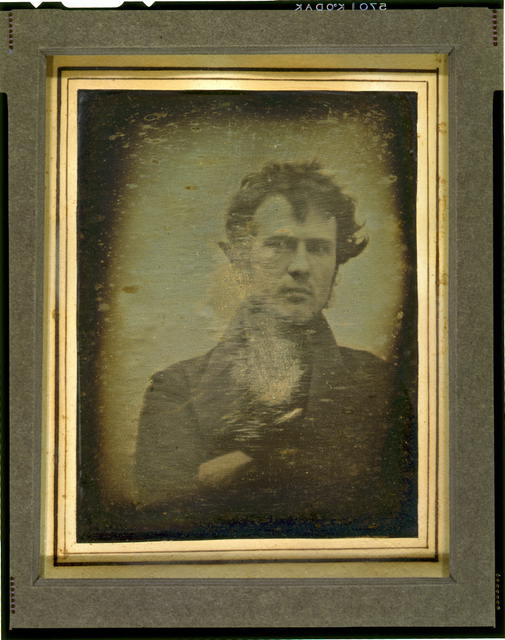 [Robert Cornelius, self-portrait; believed to be the earliest extant American portrait photo]