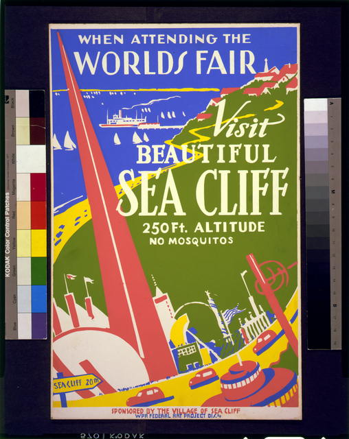 When attending the World's Fair, visit beautiful Sea Cliff 250 ft. altitude : No mosquitos.