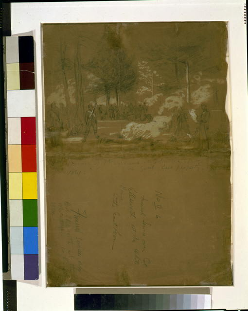 First Bivouac [...] ford? of 7th regiment at Columbia Springs on Genl Lees property [...]