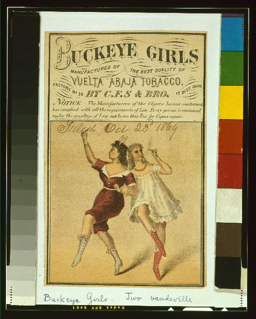 Buckeye girls manufactured of the best quality of vuelta abaja tobacco by C.F.S. & Bro.