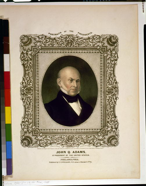 John Q. Adams, 6th President of the United States