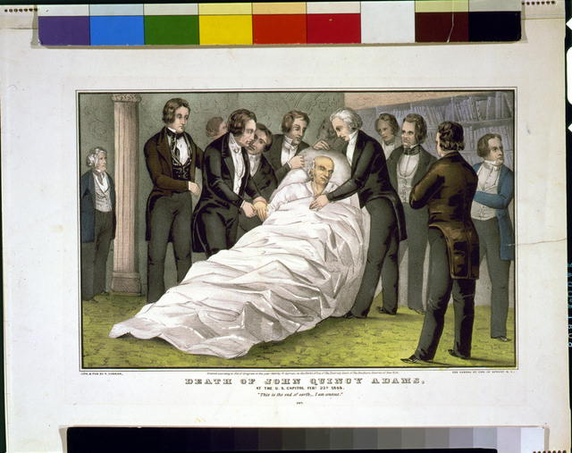 Death of John Quincy Adams at the U.S. Capitol Feby. 23d 1848