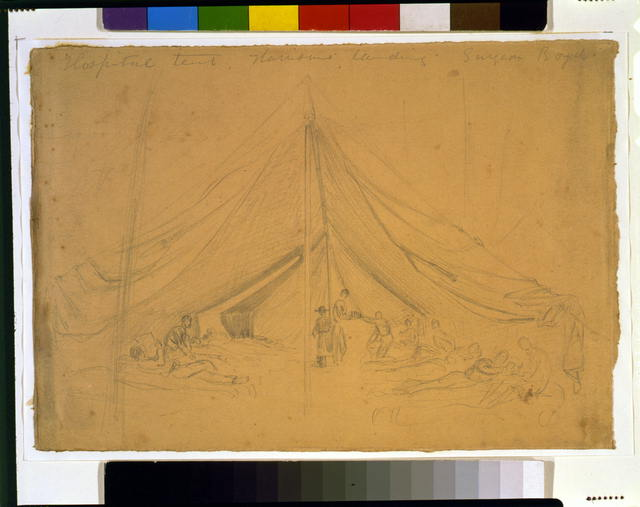 Hospital tent, Harrisons landing, Surgeon Boyd
