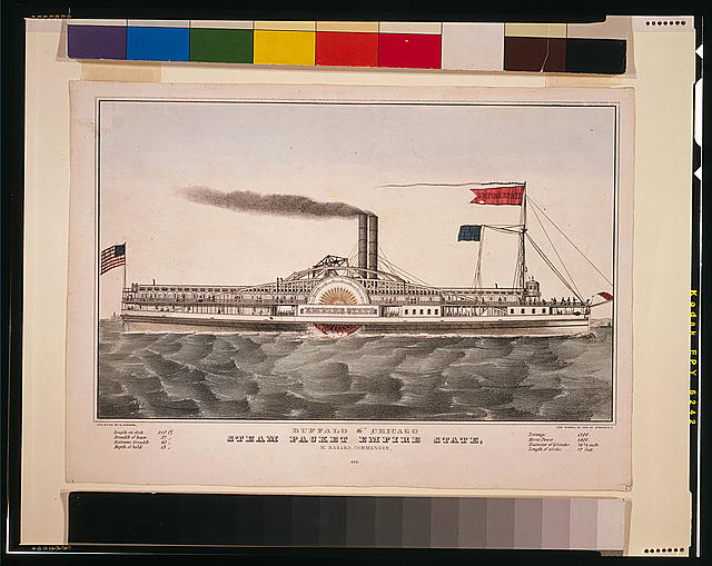 Buffalo & Chicago steam packet empire state: M. Hazard, Commander