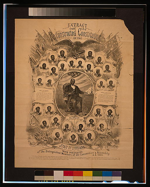 Extract from the reconstructed Constitution of the state of Louisiana, with portraits of the distinguished members of the Convention & Assembly, A.D. 1868
