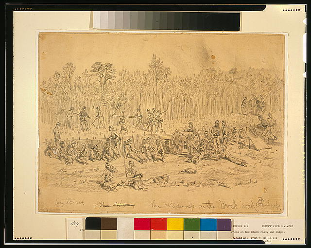 The Wilderness, on the Brock road, 2nd Corps--May 11th 1864