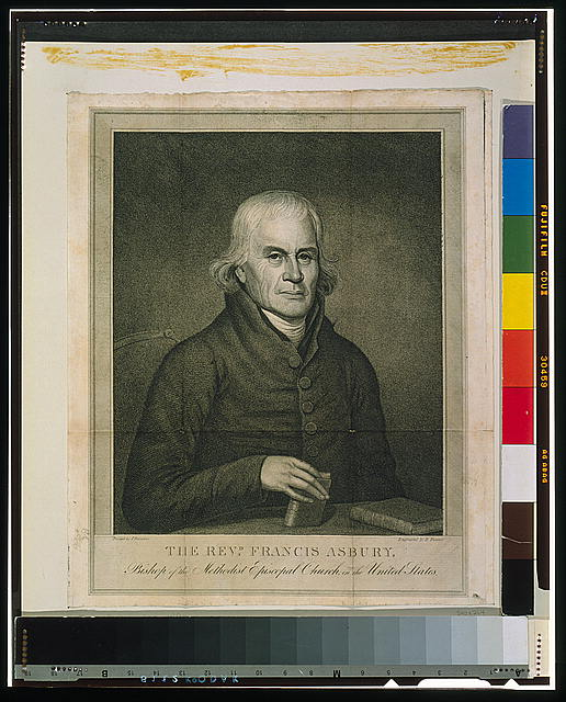 The Revd. Francis Asbury, Bishop of the Methodist Episcopal Church in the United States