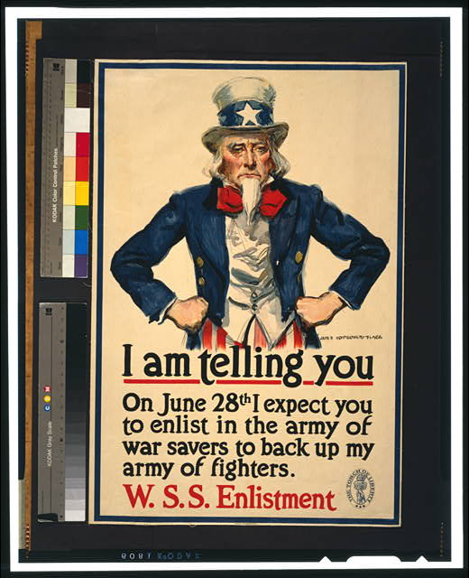 I am telling you--On June 28th I expect you to enlist in the army of war savers to back up my army of fighters