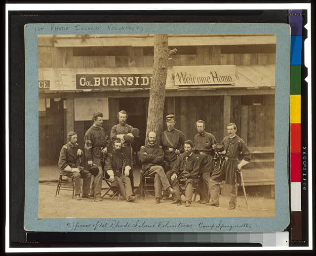 Officers of lst Rhode Island Volunteers - Camp Sprague, 1861