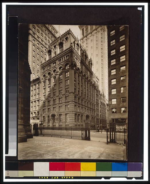 First Nat. Bank Bldg., B'way and Wall St.