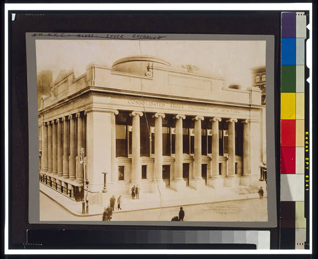 Consolidated Exchange [i.e. Consolidated Stock Exchange of New York], Broad St.