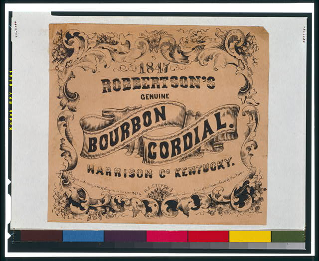 Robertson's Genuine Bourbon Cordial, Harrison Co., Kentucky