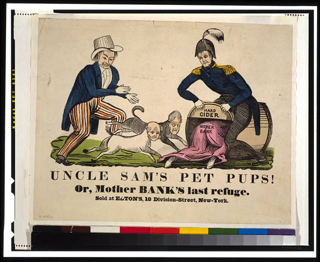 Uncle Sam's pet pups! Or, Mother Bank's last refuge
