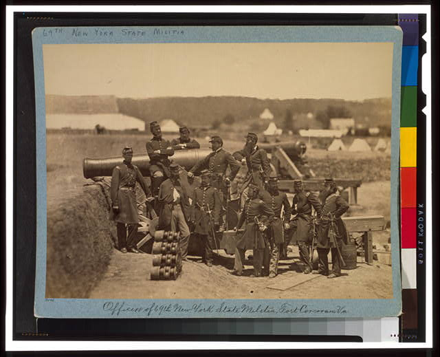 Officers of the 69th New York State Militia, Fort Corcoran, Va