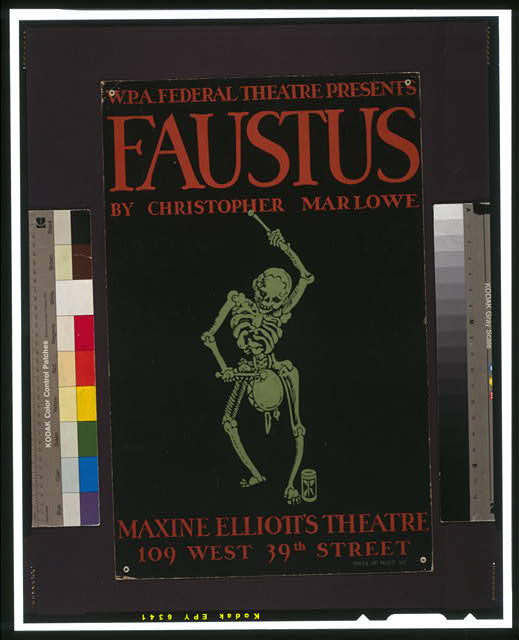 "W.P.A. Federal Theatre Presents ""Faustus"" by Christopher Marlowe"
