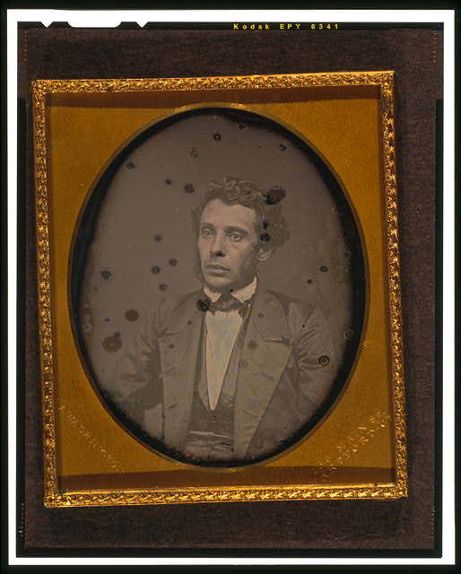 [Unidentified man, half-length portrait, three-quarters to the left]