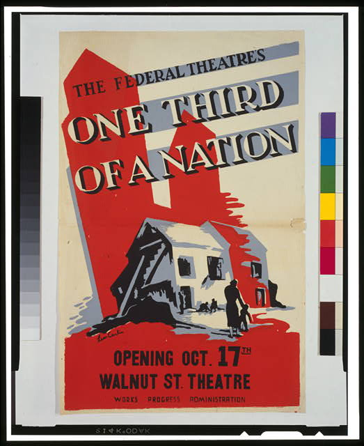 "The Federal Theatre's ""One third of a nation"""
