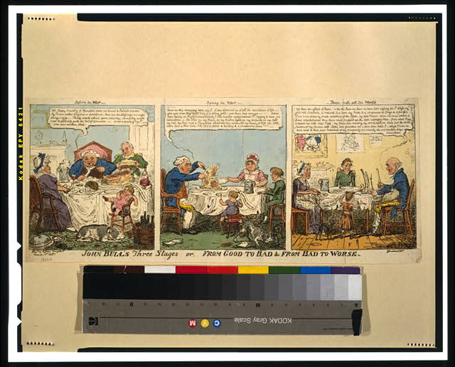 John Bull's three stages or, from good to bad & from bad to worse