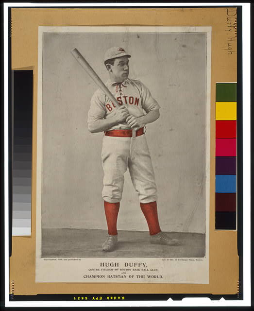 Hugh Duffy, centre fielder of Boston Base Ball Club, and champion batsman of the world