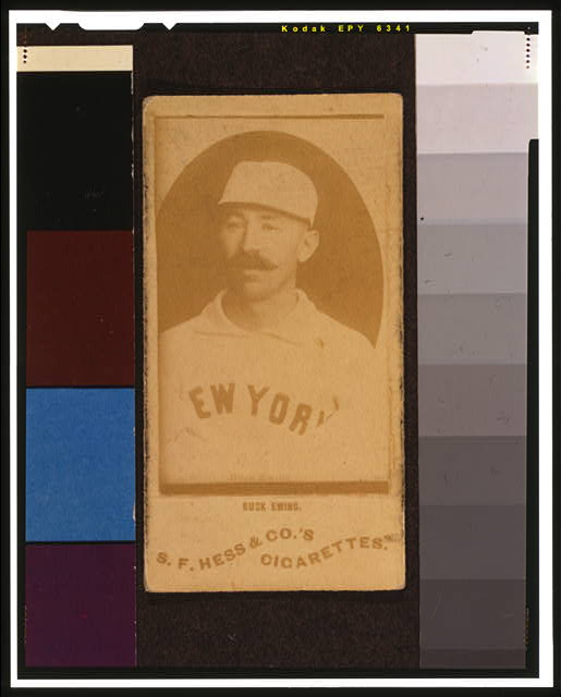 [Buck Ewing, New York Giants, baseball card portrait]