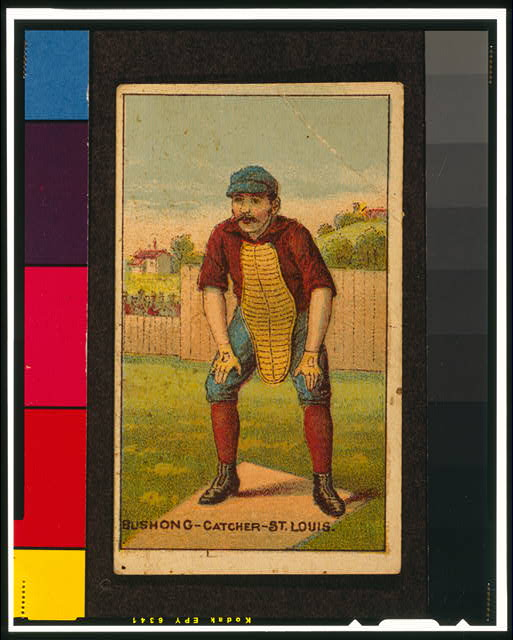 [Doc Bushong, St. Louis Browns, baseball card portrait]