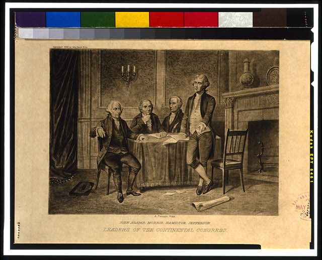 Leaders of the Continental Congress--John Adams, Morris, Hamilton, Jefferson