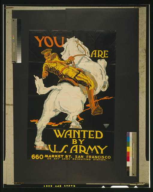 You are wanted by the U.S. Army 660 Market St. San Francisco or any Army recruiting station /