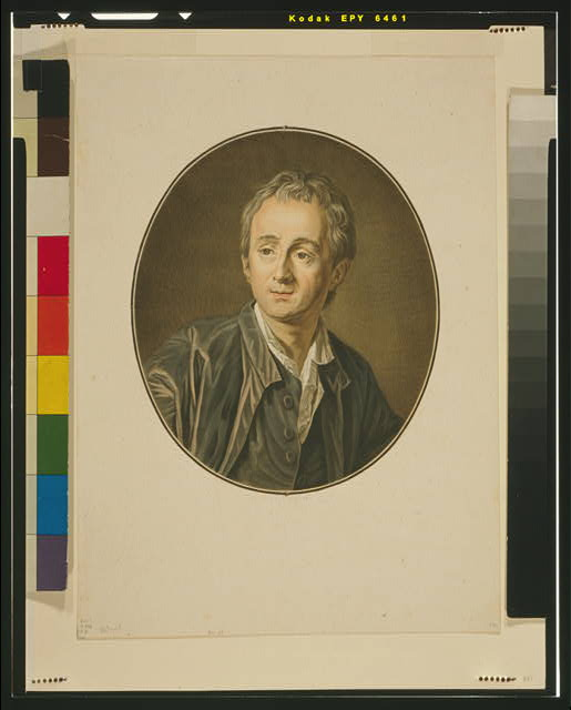 [Denis Diderot, head-and-shoulders portrait, facing slightly left, in oval]