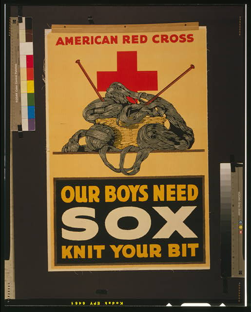 Our boys need sox - knit your bit American Red Cross.