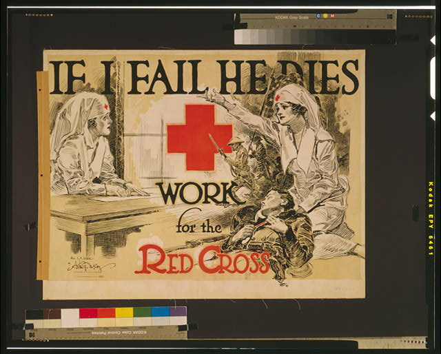 If I fail he dies Work for the Red Cross /