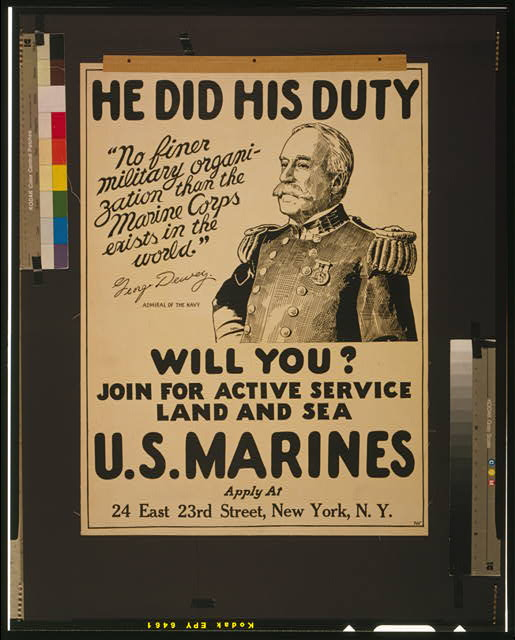 He did his duty - will you? U.S. Marines - join for active service land and sea /