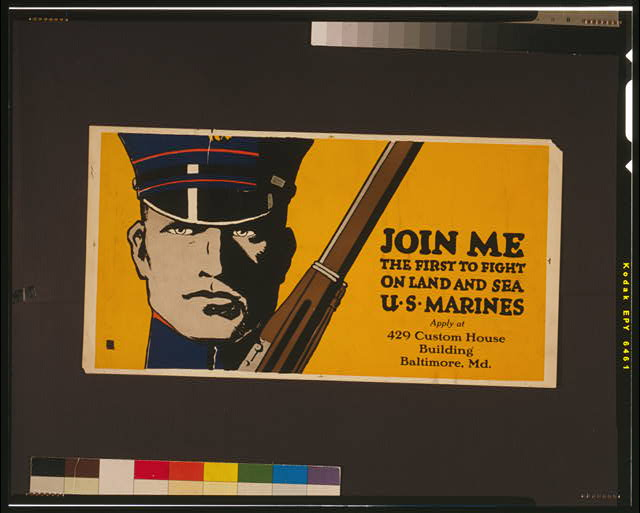 Join me - the first to fight on land and sea - U.S. Marines
