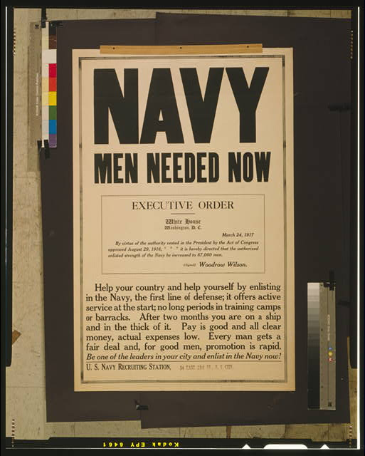 Navy men needed now