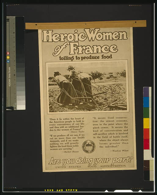 Heroic women of France toiling to produce food Are you doing your part?