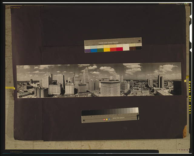 City of Houston skyline, 1949, Houston, Texas