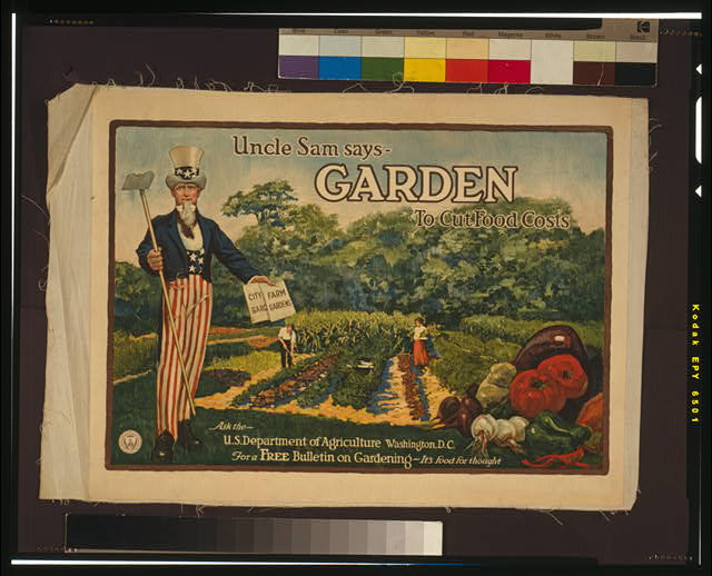 Uncle Sam says - garden to cut food costs Ask the U.S. Department of Agriculture, Washington, D.C., for a free bulletin on gardening - it's food for thought /