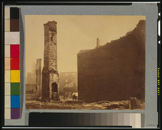 Ruins on Carey Street, Richmond, Va., April, 1865