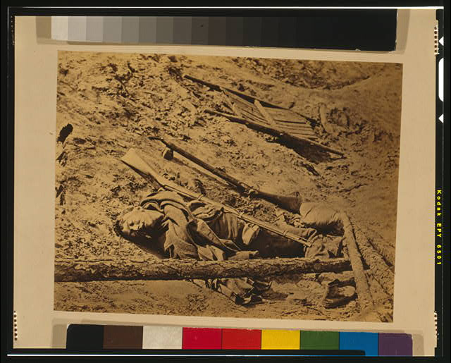 Dead confederate soldier, Petersburg, Va.