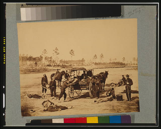 Ambulance drill at Headquarters Army of Potomac, near Brandy Station, Va., March, 1864