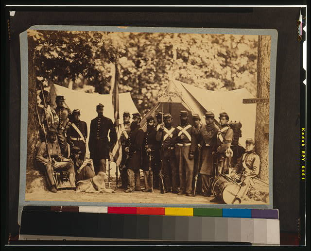 Group of Co. A, 8th New York State Militia, Arilington, Va., June, 1861