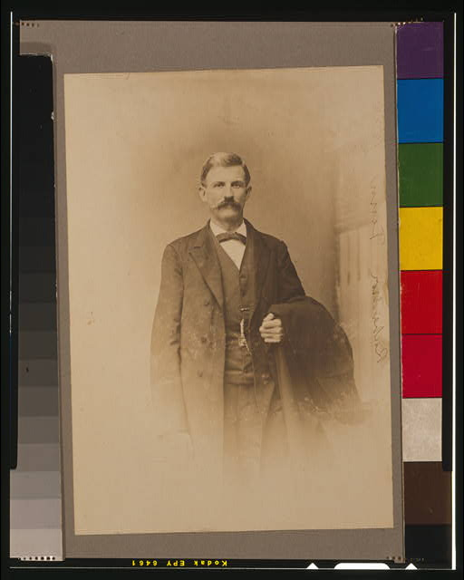[James Daniel Richardson, half-length portrait, standing, facing front]